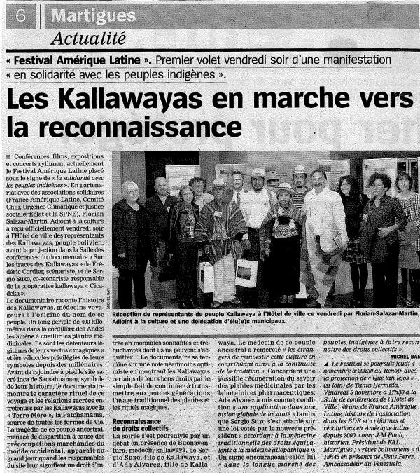 Les Kallawayas en marche vers la reconnaissance